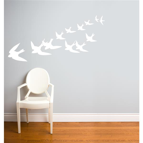 ADzif Freedom Wall Decal - 5.9' x 2.3' - White