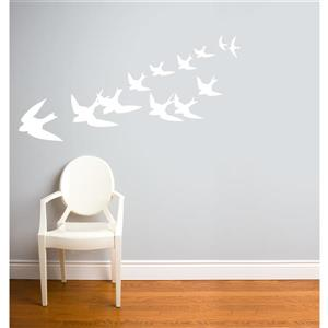 Freedom Wall Decal - 5.9' x 2.3' - White