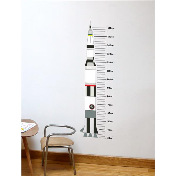 ADzif Rocket Height Gauge Wall Decal - 1.3' x 4.5'