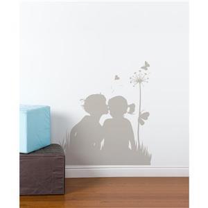 Appliqué mural, amour etc... , 3' x 3,1'