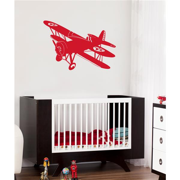 ADzif Biplane Wall Decal - 3.6' x 2.5'