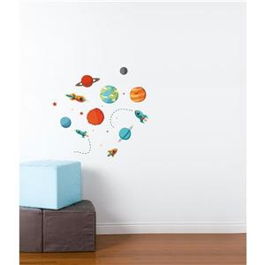 ADzif Planets Galore Wall Decal - 2.3' x 2.3'