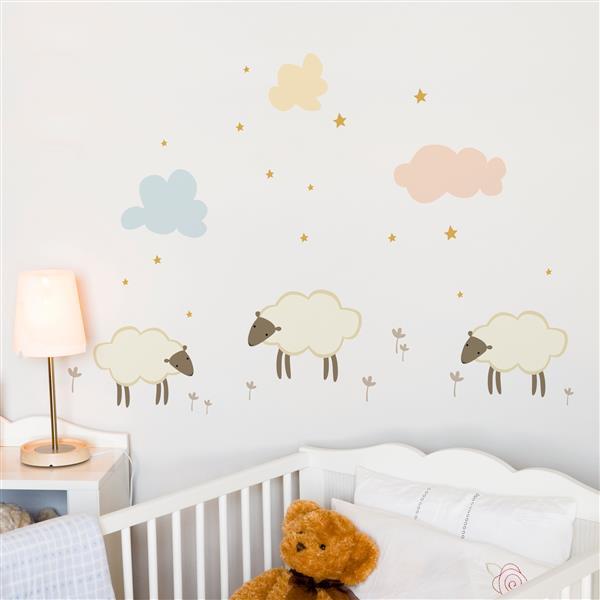 ADzif Little Sheeps Wall Decal - 3.5' x 2.1'