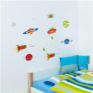 Appliqué mural, découverte de l'espace , 3,8' x 3,1'