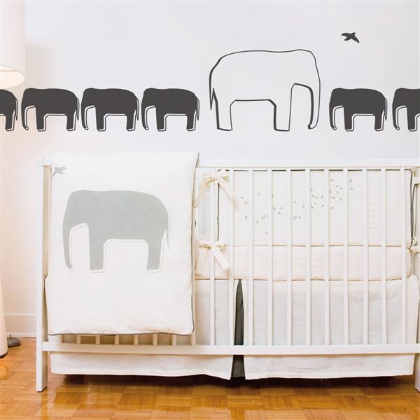 ADzif Elephant Wall Decal - 1.1' x 11.5'