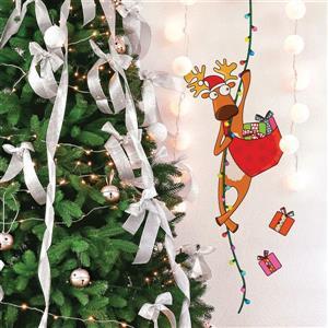 Appliqué mural de Noël, j'arrive, 1,3' x 3,5'