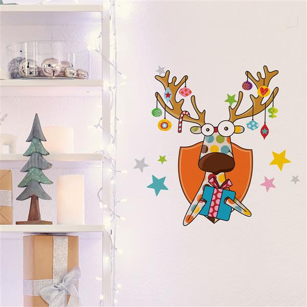 Appliqué mural de Noël, un cadeau pour toi, 1,8' x 1,8'