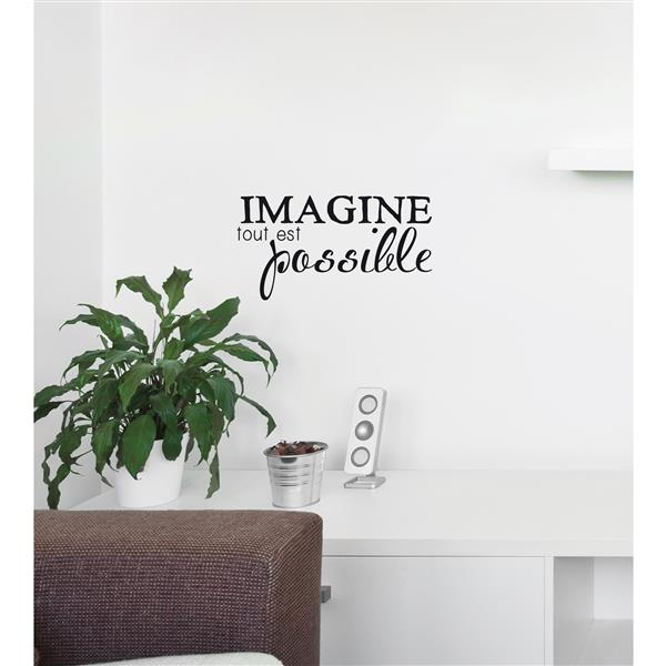 "ADzif Text Wall Decal - ""Imagine""  - 1.1' x 0.6'"