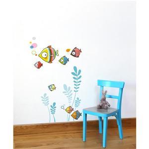Appliqué mural pour enfants, la famille bubulles , 2,1' x 2'