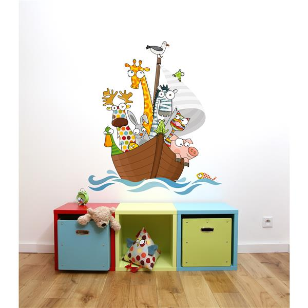 ADzif Funny Ship's Boys Wall Decal for Kids - 3.3' x 2.9'
