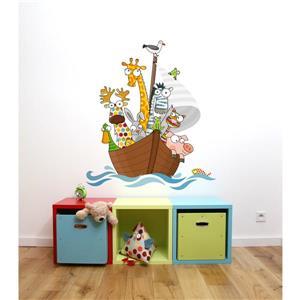 Appliqué mural pour enfants, moussaillons, 3,3' x 2,9'