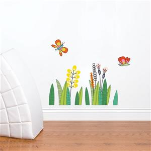 ADzif Butterflies in the Grass Wall Decal for Kids - 1.8' x 2.3'