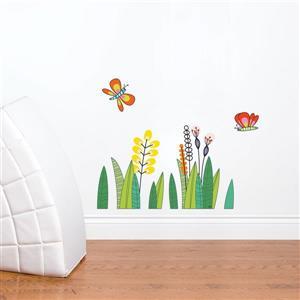 Appliqué mural pour enfants, papillons, 1,8' x 2,3'