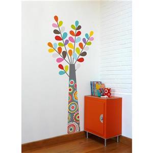 Appliqué mural pour enfants, haut en couleurs, 5,4' x 2,3'
