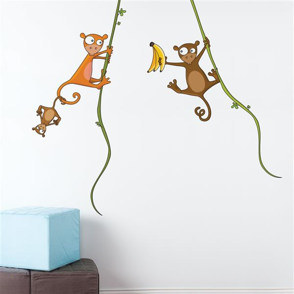 ADzif Kiki's Family Wall Decal for Kids - 4.5' x 5.2'
