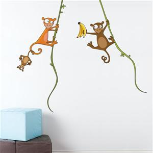 ADzif Kiki's Family Wall Decal for Kids - 4.5' x 5.2'