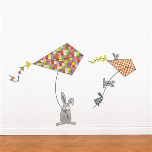 Appliqué mural pour enfants, OOH ça souffle! , 3,4' x 5,2'