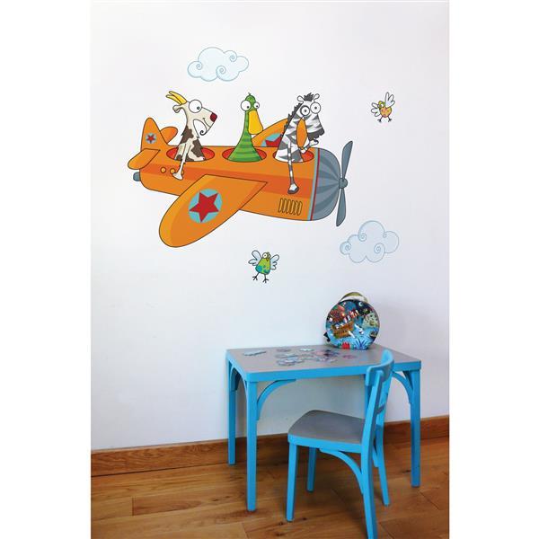 ADzif Friends in Flight Wall Decal for Kids - 3.5' x 4.1'