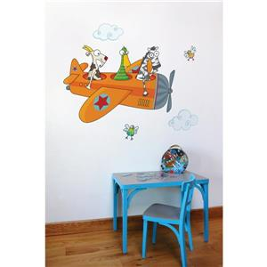 ADzif Friends in Flight Wall Decal for Kids - 3.5' x 4.1'