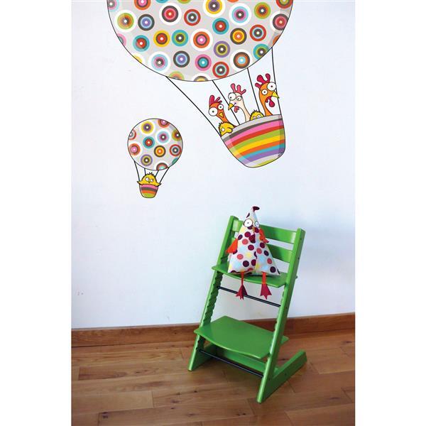 Appliqué mural pour enfants, autour du monde, 3,2' x 2,9'