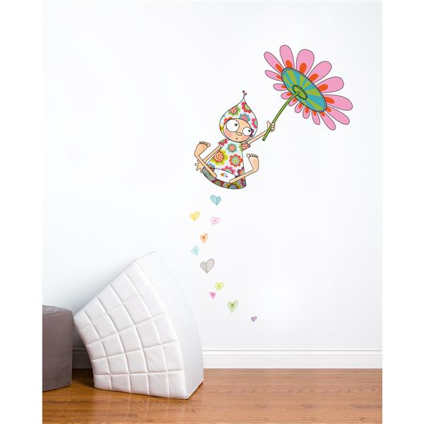 ADzif Violette Takes Flight 5.8- in x 3.4- in Wall Decal for Kids