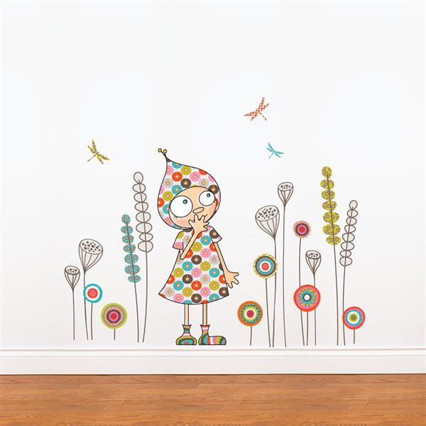 ADzif Violette's Garden Wal l3.2- in x 3.8- in Wall Decal for Kids