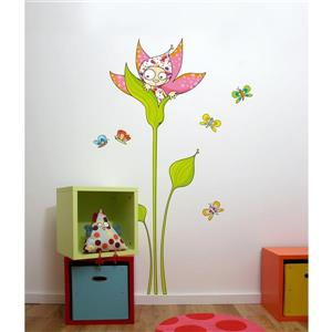 ADzif Violette 5.8- in x 3.8- in Wall Decal for Kids