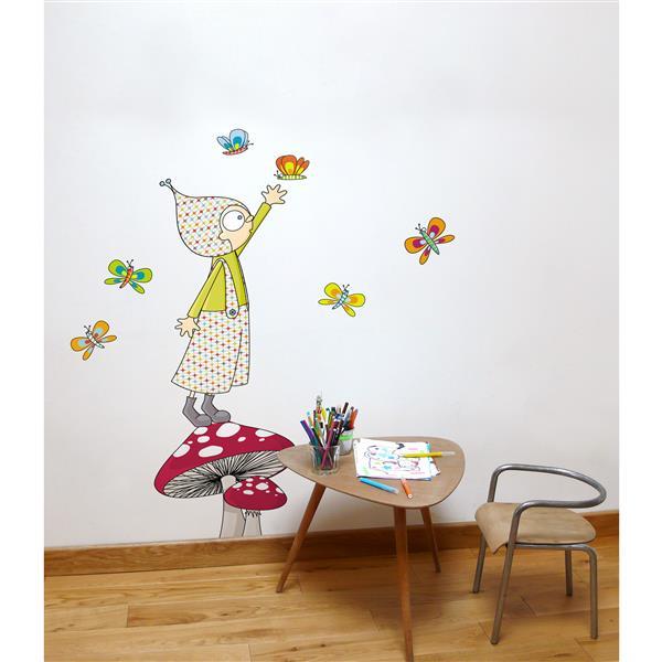 Appliqué mural pour enfants, Jules, 4,8' x 4,8'