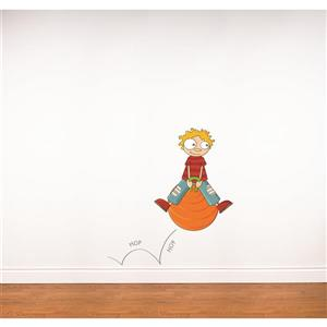 Hop Hop 3.8- in x 3.5- in Wall Decal for Kids