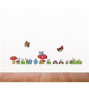 Appliqué mural pour enfants, souris.coccinelles, 1,4' x 4,2'