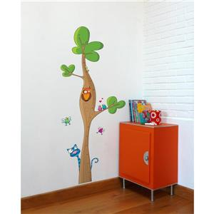 Appliqué mural pour enfants, toise arbre, 5,6' x 2,3'