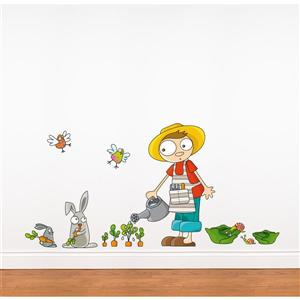 Carrots Grow 2.5- in x 4.9- in Wall Decal