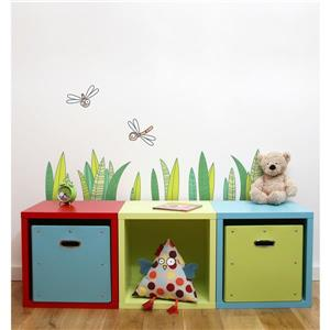 Grass 1.7-in x 3-in Wall Decal for Kids