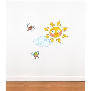 Appliqué mural pour enfants, soleil, 1,8' x 2,6'