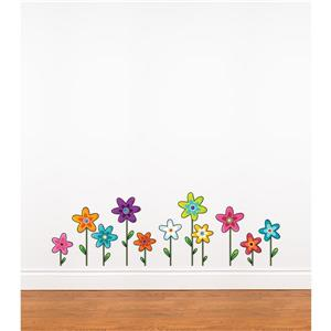 ADzif Wild Flowers 1- in x 3.1- in Wall Decal for Kids