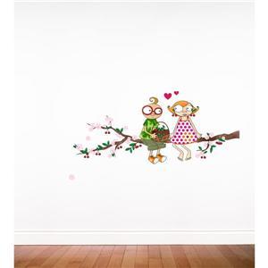 Appliqué mural pour enfants, temps des cerises, 5,2' x 2,1'