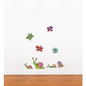 Appliqué mural pour enfants, Escargots (mini), 2,9' x 2,8'