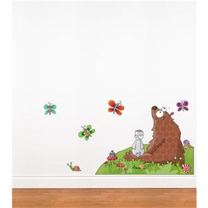 ADzif Animals Listen to a Story 3- in x 4.5- in Wall Decal