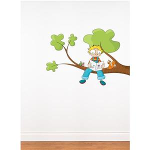 Appliqué mural pour enfants, Ludo raconte, 2,5' x 4,1'
