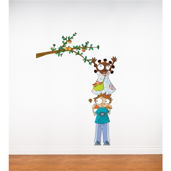 ADzif Apple Picking 5.7- in x 3.3- in Wall Decal