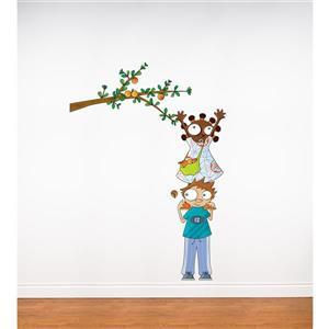 Appliqué mural pour enfants, aux pommes, 5,7' x 3,3'