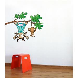 Lou and Kiki Wall Decal for Kids - 3.2' x 3.6'