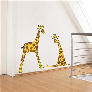 Giraffe Baby Boys 3.1- in x 3.9- in Wall Decal for Kids