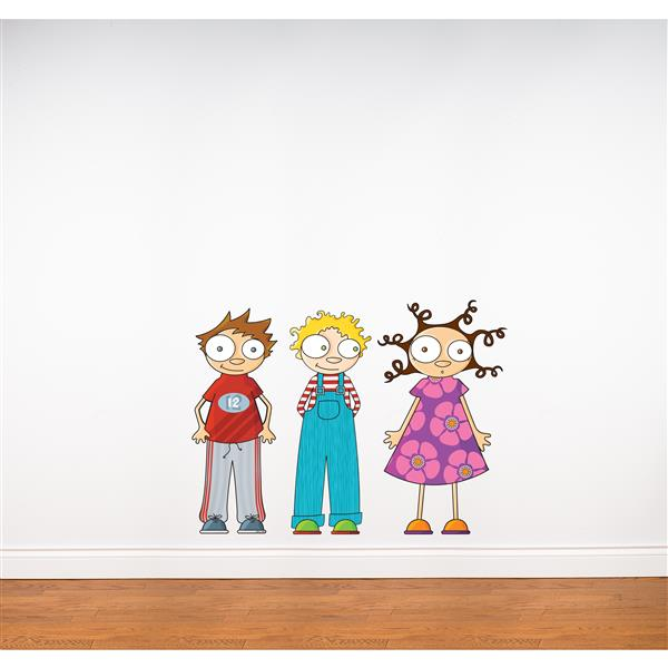 ADzif Eliot, Ludo and Lou Wall Decal for Kids - 2.3' x 3.3'