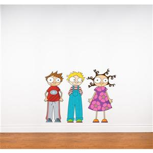 Eliot, Ludo and Lou Wall Decal for Kids - 2.3' x 3.3'