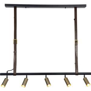Luminaire suspendu Desmond à 5 lumières, noir mat