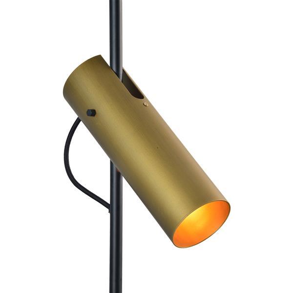 Luminaire suspendu Hoxton à 3 lumières, noir et or