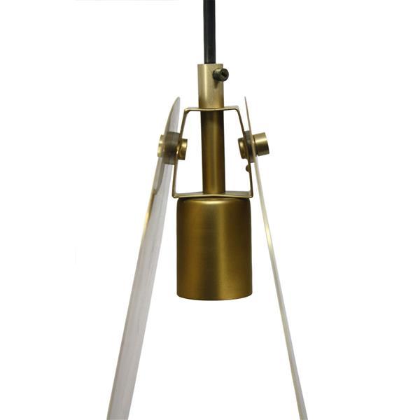 Notre Dame Design Frond Pendant - Matte brass