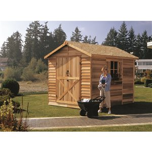Cedarshed Rancher 8-ft x 10-ft Cedar Storage Shed