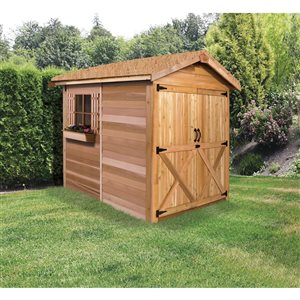 Rancher Storage Shed  - 6' x 6', Cedar